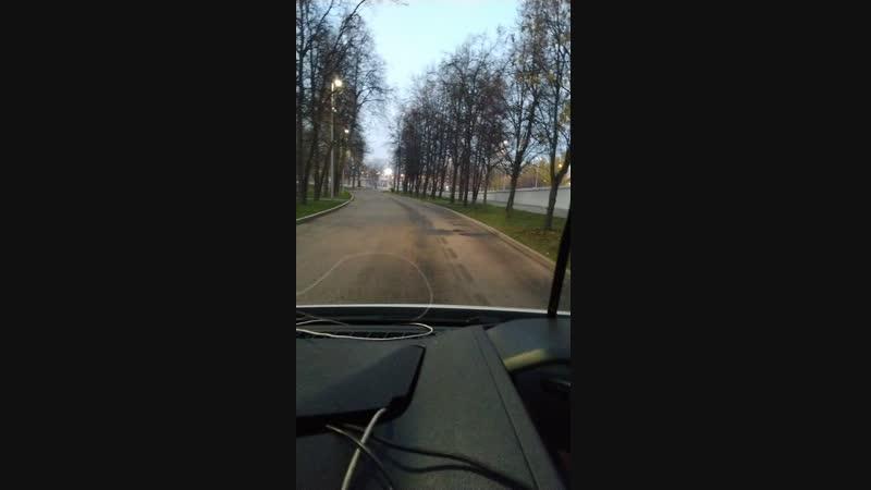 поездка по лужникам, долгое видео