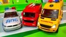 Мультики про машинки. Учим машины - полицейская скорая и пожарная машинки. Мультфильмы для детей