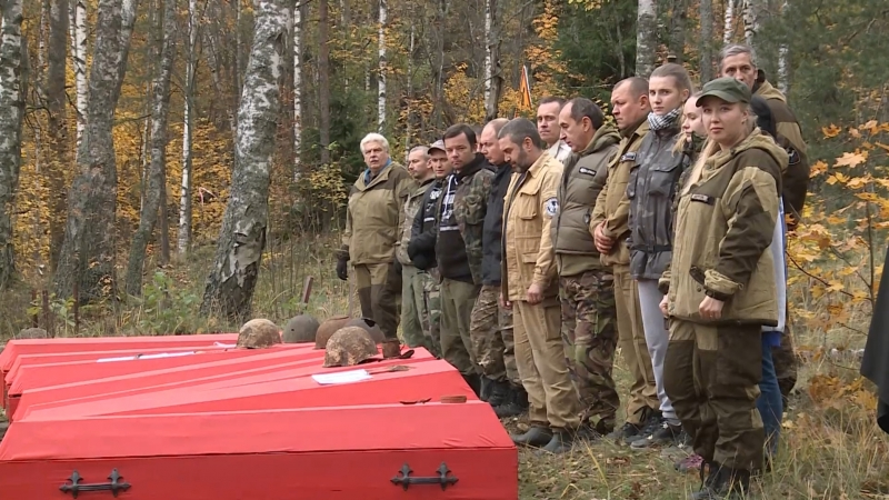 На мемориале Петровка предали земле останки 85 бойцов Красной Армии