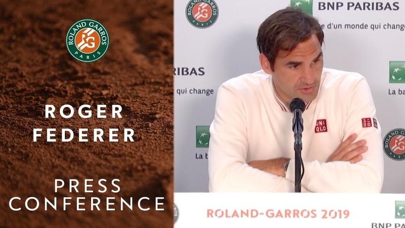 Roger Federer - Press Conference after Semi-Finals | Roland-Garros 2019