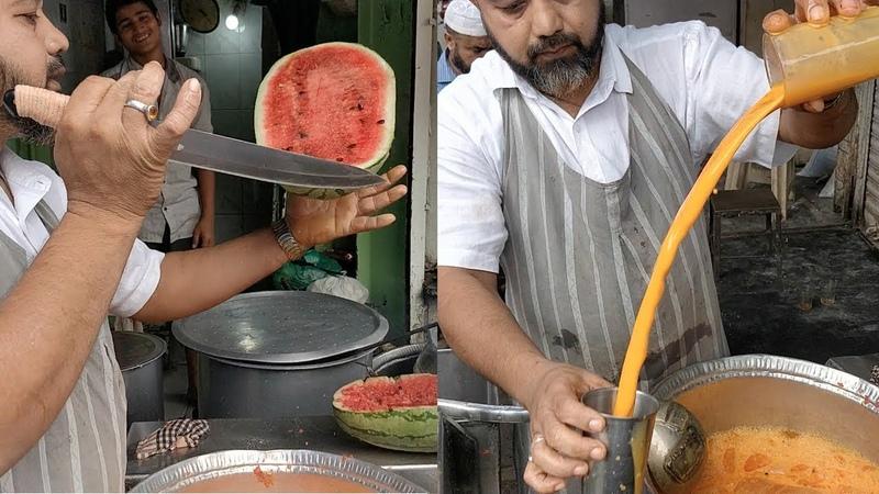 WATERMELON CUTTING NINJA | Crazy Juice Making Skills | Indian Street Food