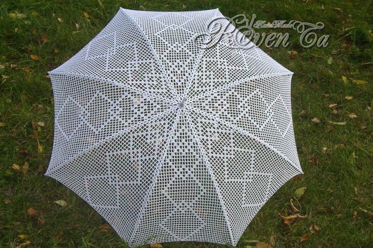 вязаный зонтик схема описание