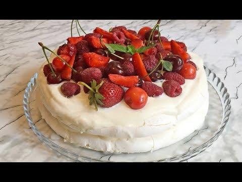 Торт Павлова / Pavlova Cake / Торт Безе / Летний Торт / Торт с Ягодами / Воздушный Десерт