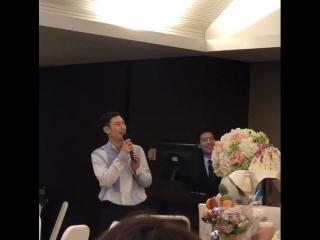 09.06.2018 || Ли Чжэ Хун на дне рождения племянницы