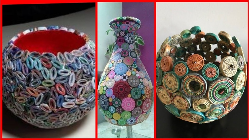 Beautiful news paper craft recycle newspaper craft ideas