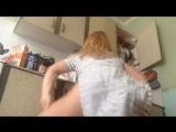 молодая девушка с большой попой в трусиках танцует тверк большая попа трусики young girl big ass twerk