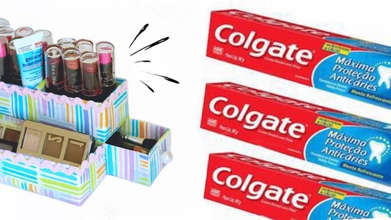2 Ideas Increíbles de Reciclaje con Cajas de Pasta Dental 2