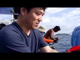 Царская рыбалка на Пхукете - аж две большие рыбы сразу