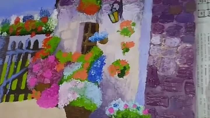 Картина Домик в Италии закончена