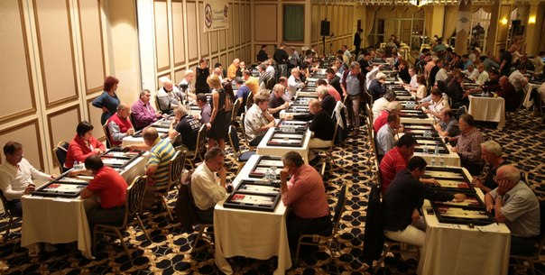 Open international backgammon chionship at the merit park hotel