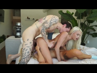 Kenzie Reeves, Emma Hix & Owen Grey - Kenzie and Emma Threesome Sex Tape All Sex, Hardcore, Blowjob, Gonzo