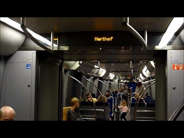 München: Mitfahrt im C-Zug 612 auf der U2 Feldmoching - Harthof