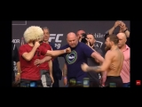 Конор МакГрегор и Хабиб Нурмагомедов на Церемонии Взвешивания UFC 229 - Битва Взглядов UFC 229.mp4