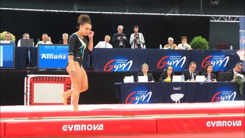 Coline Devillard (2000) - finale saut - Championnat de France 2018