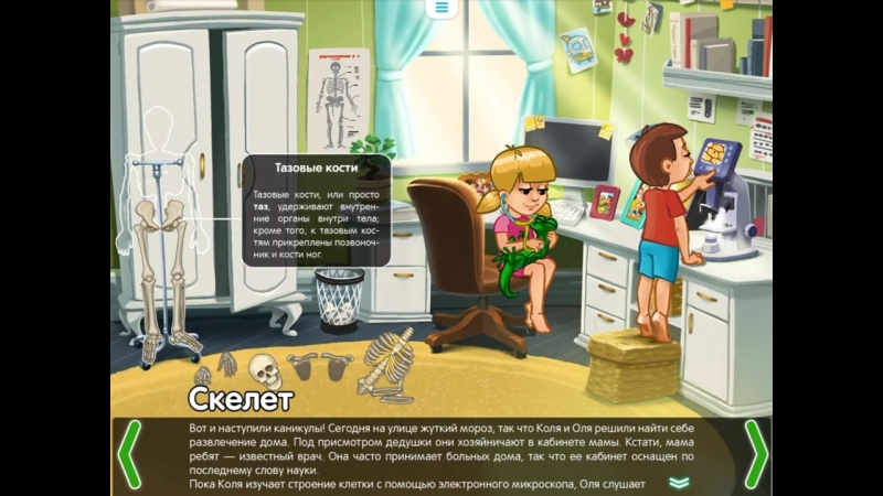 Скелет. Строение тела для детей - развивающий мультфильм