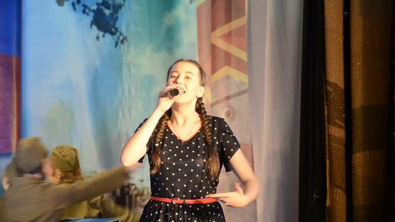 Елена Ахмерова и образовый танцевальный коллектив Айседора с песней Катюша
