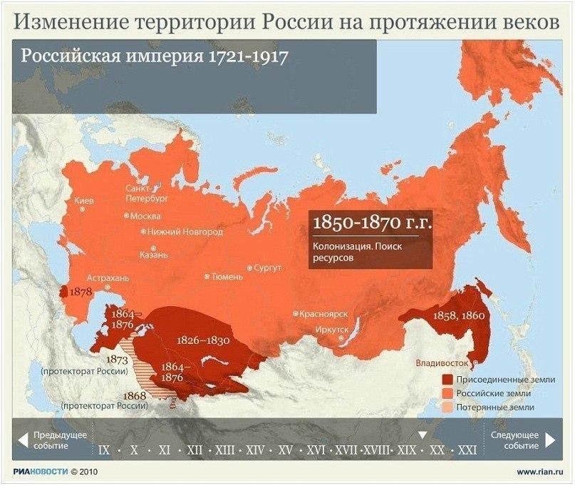 Изменение территории России на протяжении веков VA9ODEH8P_A