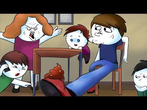 Школьные истории про говно 18 Анимация