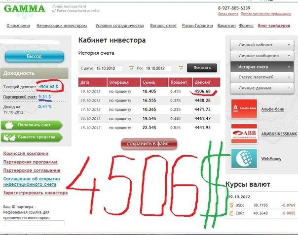 Отчет 15.10.2012 - 19.10.2012