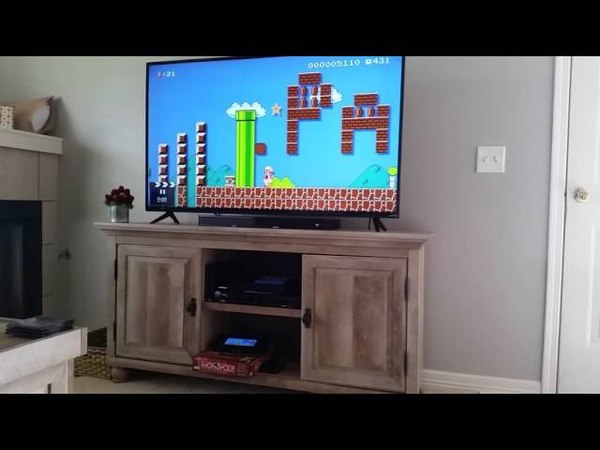 I proposed to my girlfriend in Mario Maker