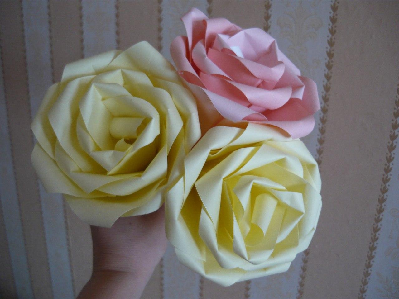 Цветы роза своими руками из бумаги