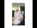 Блондирование корней классической белой пудрой с 3% тонирование 9N 30 гр siver candy 5 гр honey crunch 5гр 1c 0 5 см