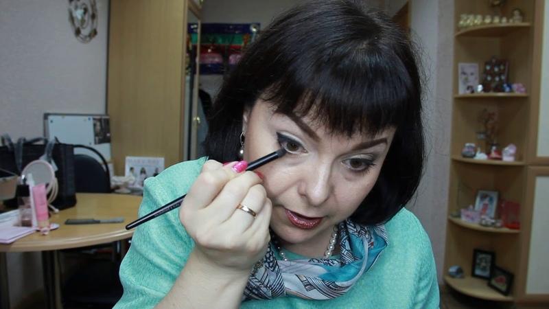 макияж с палеткой Роскошное золото