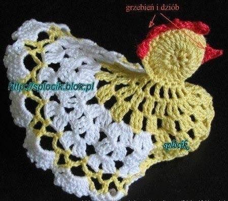 Вязаная курица крючком: схемы