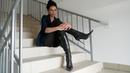 Kristina's pointed toe high heels Gianmarco Lorenzi black leather boots Size EU 39 5 US 8 5