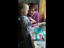 Кормит прабабушку