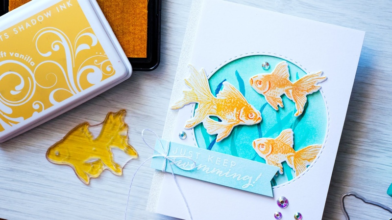 Adding Sparkly Effects to Die Cuts | Hero Arts Color Layering Fish Card