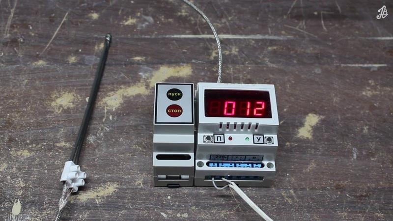 Программный регулятор-измеритель РИГ-10-5. Прибор в печь для обжига керамики