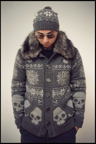 Куртка BlackSTAR вязанная с мехом.