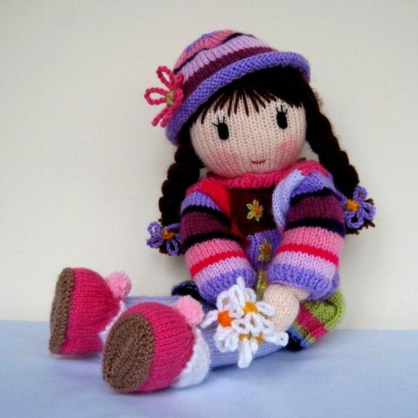 Очень красивые вязаные куклы (10 фото) - картинка
