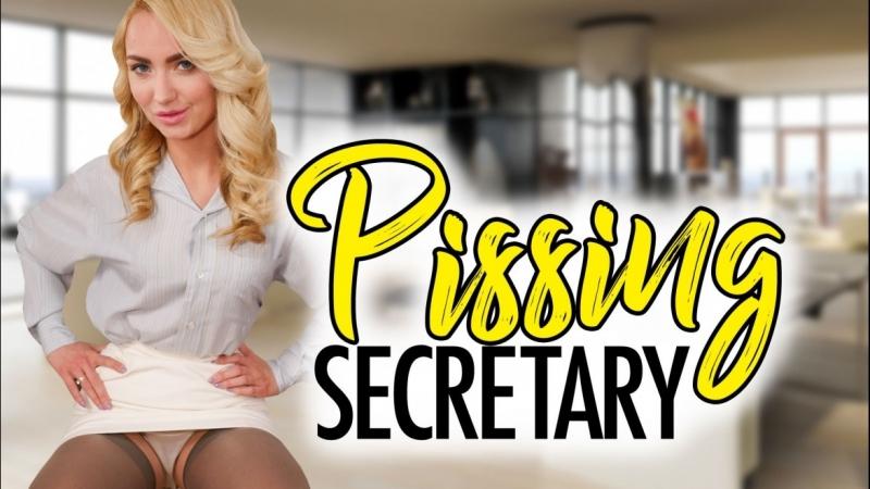 VRon Victoria Puppy (Pissing Secretary) Panty fetish, Stockings, Upskirt, Virtual Reality, VR SideBySide Oculus Rift