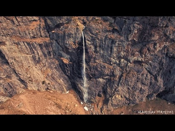 Хижа Рай и водопад Райското пръскало дрон Rai hut and Raiskoto pruskalo waterfall drone