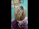 растяжка цвета коричневый блонд и ботокс волос