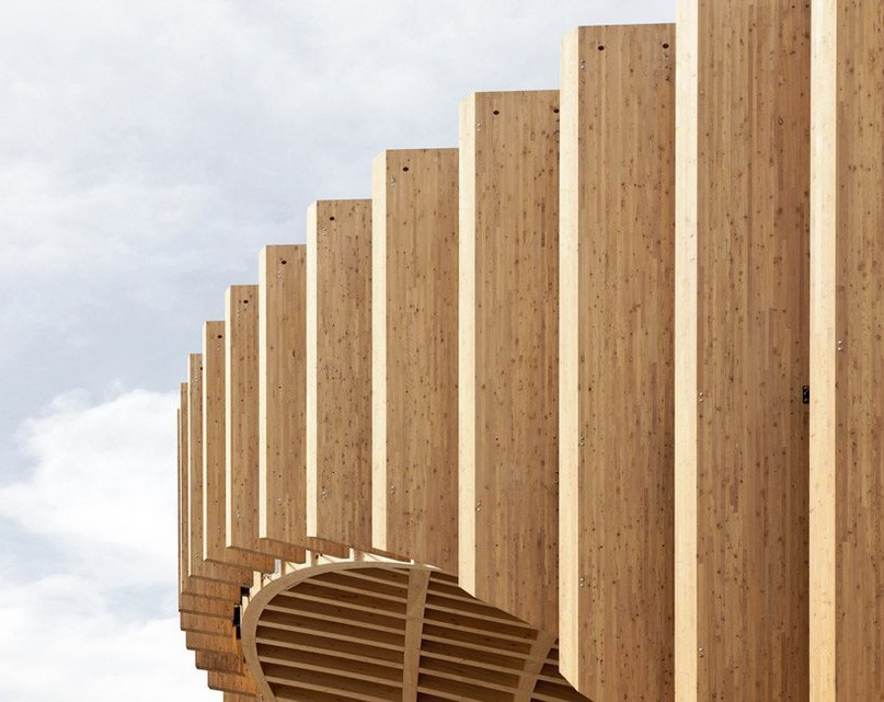 latticed france pavilion for milan expo by XTU architects
