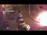 В Москве злоумышленники подожгли BMW перед камерой