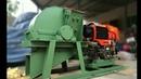 Portable diesel engine drive wood crusher machine to make sawdust