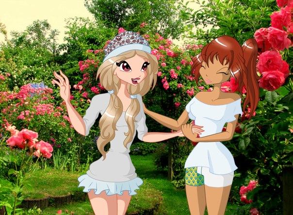 Игра одевалка Бионсе и мои картинки winx и аниме
