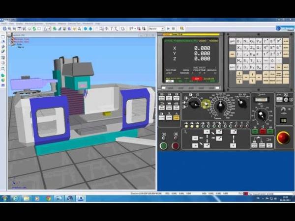 CNCSimulator - Урок 1. Включение и запуск станка CNC.