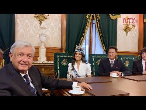 López Obrador se reúne con ganadora de Miss Mundo 2018