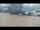 Balili River sa bahagi ng Brgy. Balili, La Trinidad, Benguet, umapaw na bandang ala-1 ng hapon dahil sa patuloy na pagulan Ompon