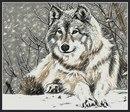 """Оригинал схемы вышивки  """"Одинокий волк """" ."""