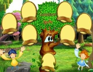 Детские виньетки - Генеалогическое семейное древо.