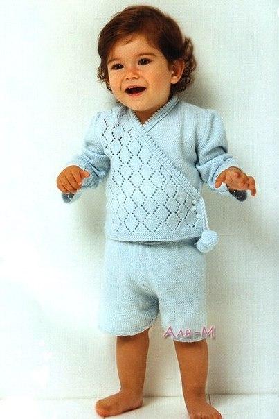 Комплект для малыша спицами (2 фото) - картинка