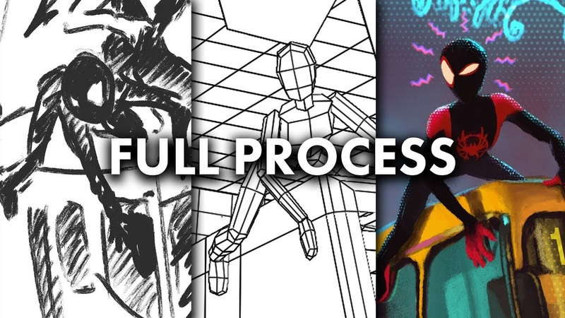Drawing Into The Spider-Verse - Full Process