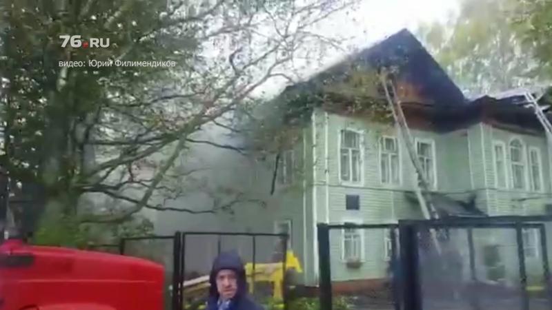 В школе во время уроков вспыхнул пожар