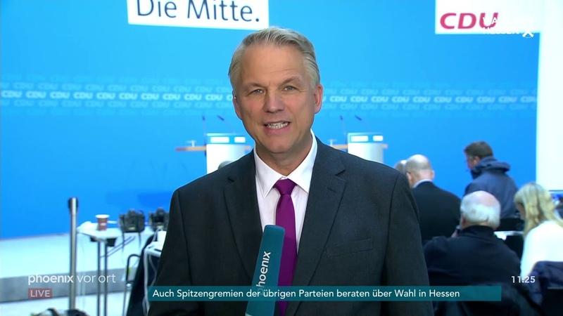 Elmar Brok und Mike Mohring zum möglichen Verzicht von Merkel auf den Parteivorsitz am 29.10.18